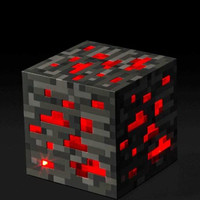 "Minecraft Light-up Redstone Ore 1PCS ""Best Collection and Gift"""