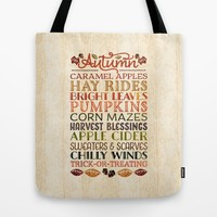 Autumn Fun Tote Bag by Noonday Design