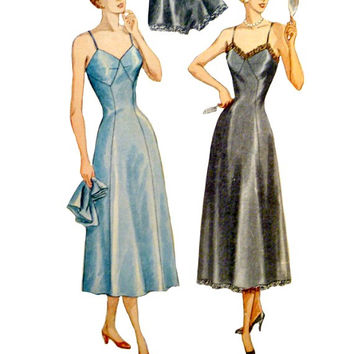 40's Vintage Slips Tap Pants Pattern Misses High Waist Side Button Panties Simplicity 2692 Sewing Patterns Size 14 Bust 32