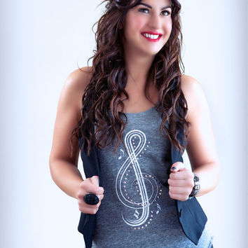 Music Note Shirt Treble Clef Eco Friendly Racerback by ShopRIC
