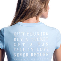 Blue Quit Your Job Tee - Cute Graphic Tee for Women | Island Company