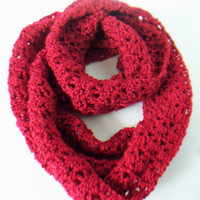 Autumn Red Simply Soft Colored Infinity Scarf or Cowl