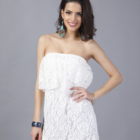 Sexy lace word collar chest dress [9929084748]