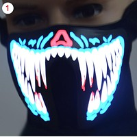 LED Luminous Flashing Face Mask Party Masks Light Up Dance Halloween Cosplay
