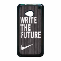 Nike Future On Wood Gray HTC One M7 Case
