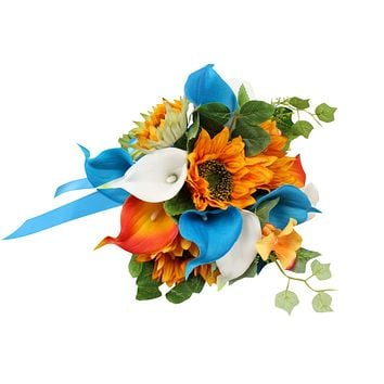 Bouquet Boutonniere-Turquoise Yellow