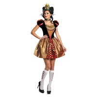 Disney Alice In Wonderland Red Queen Costume - Adult (Black/Gold/Red)