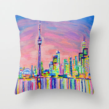 Toronto Skyline Throw Pillow by Morgan Ralston
