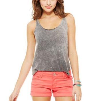 Olivia Sateen Short in Teaberry Red
