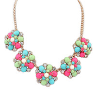 Gift Stylish Shiny Jewelry New Arrival Floral Simple Design Necklace [4918880516]