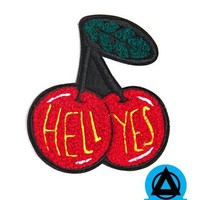 Bananna Bones - Hell Yes Cherries Chenille Patch