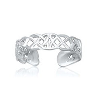 Celtic Knot Motif Toe Ring in 14K White Gold