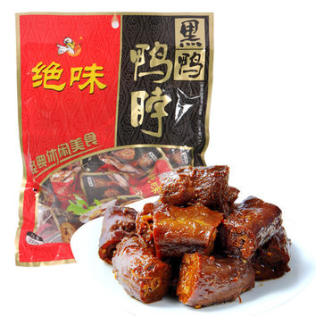 200g Delicious Jue wei Black Sweet and Spicy Chinese Snacks Chinese Specialty Spicy Duck Neck