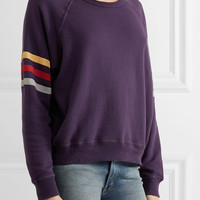 The Great - Striped cotton sweater