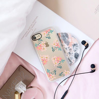 Floral iPhone 7 & 7 Plus Case (Pink Daisies Pattern) by Casetify
