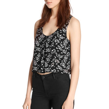 Comfortable Beach Bralette Hot Stylish Sexy Summer Lovely Print Round-neck Spaghetti Strap Black Sleeveless Tops Vest [4920347652]