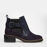 ASOS ALIGN Leather Suede Mix Ankle Boots