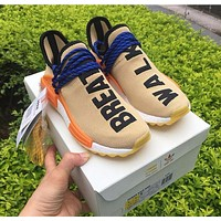 Adidas NMD Human Race Pharrell Williams Pale Nude Sport Running Shoes Classic Casual Shoes Sneakers