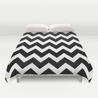 Chevron Black & White Duvet Cover by Beautiful Homes