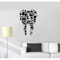 Vinyl Decal Tooth Dentist Tools Dentistry Dental Clinic Wall Stickers Mural Unique Gift (ig2705)