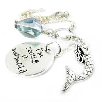 Mermaid Car Charm for Rearview Mirror