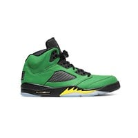 Air Jordan Men's 5 Retro Oregon Apple Green