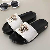 Versace Woman Men Fashion Medusa Slipper Slippers