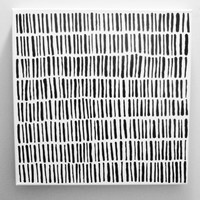 GRASS Painting Original Modern Painting Canvas Abstract Square Painting Minimalist Painting Black and White Painting Line Painting Line Art