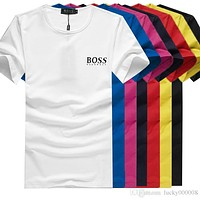 Bosses Men Summer T Shirt For Men Hugo Tops With Letters Designers Hip Hop Shirts Short Sleeve Tshirt Mens