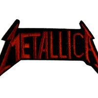 Metallica Patch Iron on Applique Heavy Metal Music