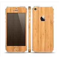 The Light Bamboo Wood Skin Set for the Apple iPhone 5s