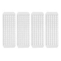 Evelots 4 Mini Durable Plastic Ice Cube Trays, Makes 90 Small Cubes,  Set Of 4