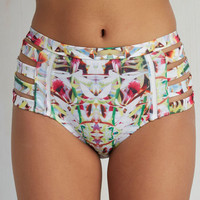 Tide of Your Life Swimsuit Bottom in Tropical Bloom
