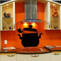 Wall Vinyl Sticker Decal Art Design Cooker Pot Room Cafe Kitchen Nice Picture Decor Hall Wall Chu238
