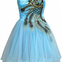 Faironly Aqua Above Knee Short Homecoming Prom Dress