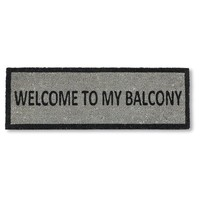 Welcome To My Balcony -- Door Mat