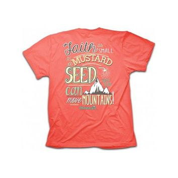 Cherished Girl Faith Mustard Seed Move Mountains Girlie Christian Bright T Shirt