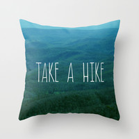 Take A Hike Throw Pillow by Kim Fearheiley Photography