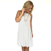 Flare Away Stripe Jersey Dress