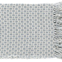 Trestle Contemporary Woven Throw - Blue