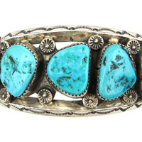 One Kings Lane - Going for Bold - 1960s Navajo Cuff w/ Turquoise