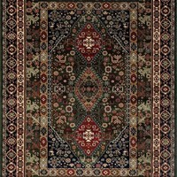 3843 Green Oriental Area Rugs