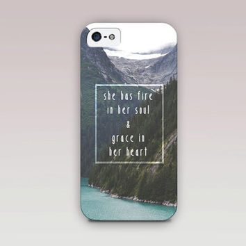 Fire & Grace Photography Quote Phone Case For - iPhone 6 Case - iPhone 5 Case - iPhone 4 Case - Samsung S4 Case