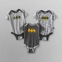 Batman Infant Boy's Bodysuit - 3-Pack