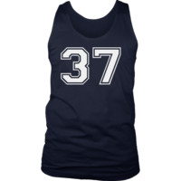 Men's Vintage Sports Jersey Number 37 Tank Top for Fan or Player #37