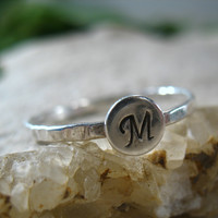 Stacking Ring Silver with Monogram