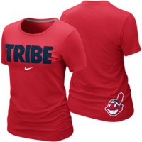 Nike Cleveland Indians Ladies Tribe Local Premium T-Shirt - Red