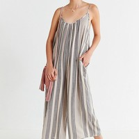 UO Shapeless Gauzy Striped Jumpsuit   Urban Outfitters