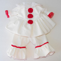 """Clothes Pennywise Inspired Costume Handmade for Bitty Baby or 16"""" Baby Born Doll"""