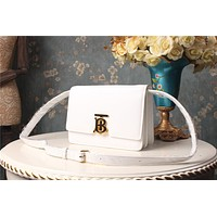 BURBERRY WOMEN'S LEATHER TB INCLINED SHOULDER BAG